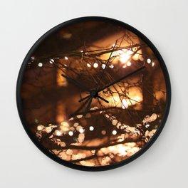 Christmas bokeh Wall Clock