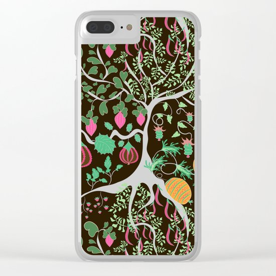 Fairy floral pattern unusual plants, trees and flowers Clear iPhone Case