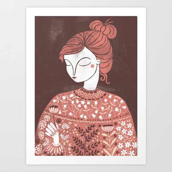 The Botanist Art Print