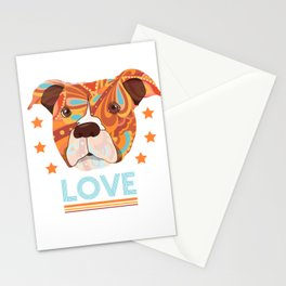 Pit bull love Stationery Cards