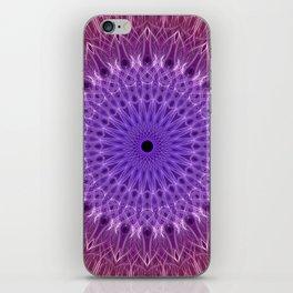 Red,fuchsia and violet mandala iPhone Skin