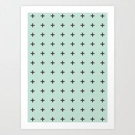 + print- mint Art Print