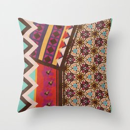 Zimbabwe Multi With Texture Throw Pillow