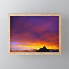 July Sunset Framed Mini Art Print