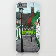 Little Church Lane Cafes, Tamworth, Staffordshire, England, Acrylics On Canvas iPhone 6s Slim Case