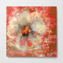 White Flower in Red Decoration Metal Print
