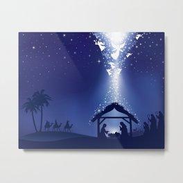 Holiday Christmas The Three Wise Men Night Star Ca Metal Print