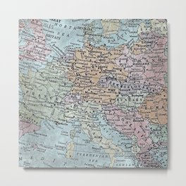 old map of Europe Metal Print