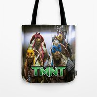ninja turtles Tote Bags featuring ninja turtles  by custompro
