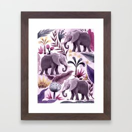Elephant Forest Framed Art Print