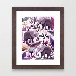 Elephant Forest Framed Art Print