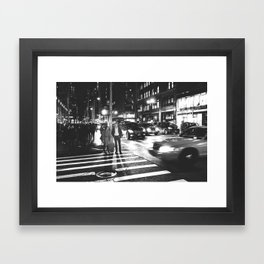 just strolling in the City Framed Art Print