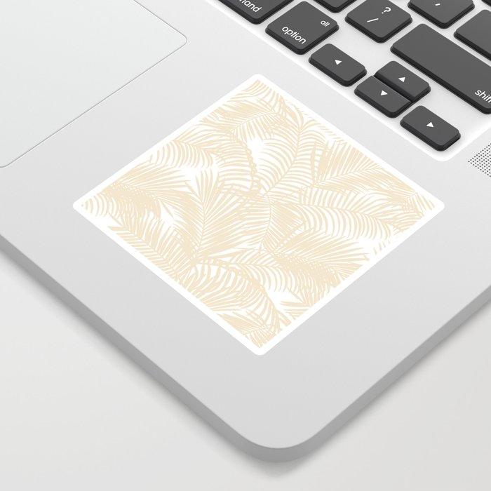 Modern tropical elegant ivory palm tree pattern Sticker