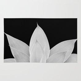 Gray Agave on Black #1 #tropical #decor #art #society6 Rug