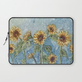 Watercolor Sunflowers,Watercolor Batik, Sunflower Art,Sunflower Flower Laptop Sleeve