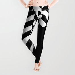 BROKEN ABSTRACT GEOMETRY (BLACK-WHITE) Leggings