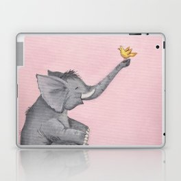 A Little Birdie Told Me - Elephant and Bird Laptop & iPad Skin