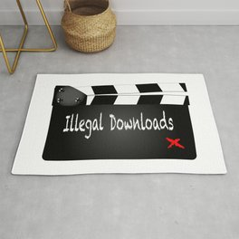 Illegal Downloads Clapperboard Rug
