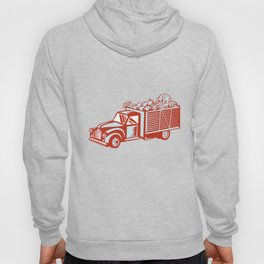 Vintage Pickup Truck Delivery Harvest Retro Hoody