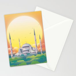 Mosque under the sun Stationery Cards