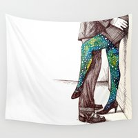 socks Wall Tapestries featuring after hours by Beth Jorgensen