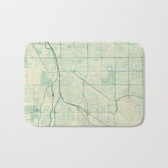 Tucson Map Blue Vintage Bath Mat