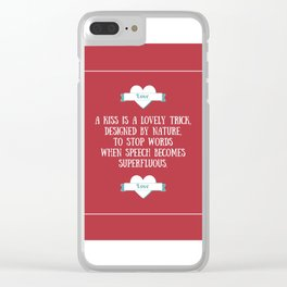 Saint Valentine's dedication Clear iPhone Case
