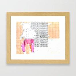 Das tägliche Üben ist erste Voraussetzung. Framed Art Print