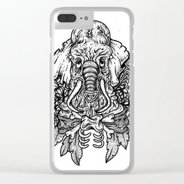 Ink Elephant Clear iPhone Case
