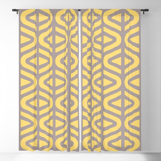 Mid Century Modern Split Triangle Pattern Gray and Yellow 2 by tonymagner