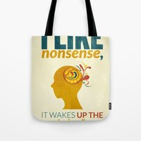 dr seuss Tote Bags featuring Dr. Seuss by Kongoriver