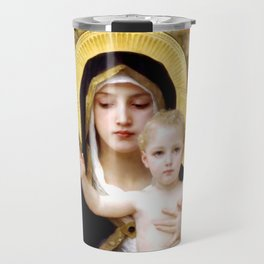 "William-Adolphe Bouguereau ""The Madonna of the Lilies"" Travel Mug"