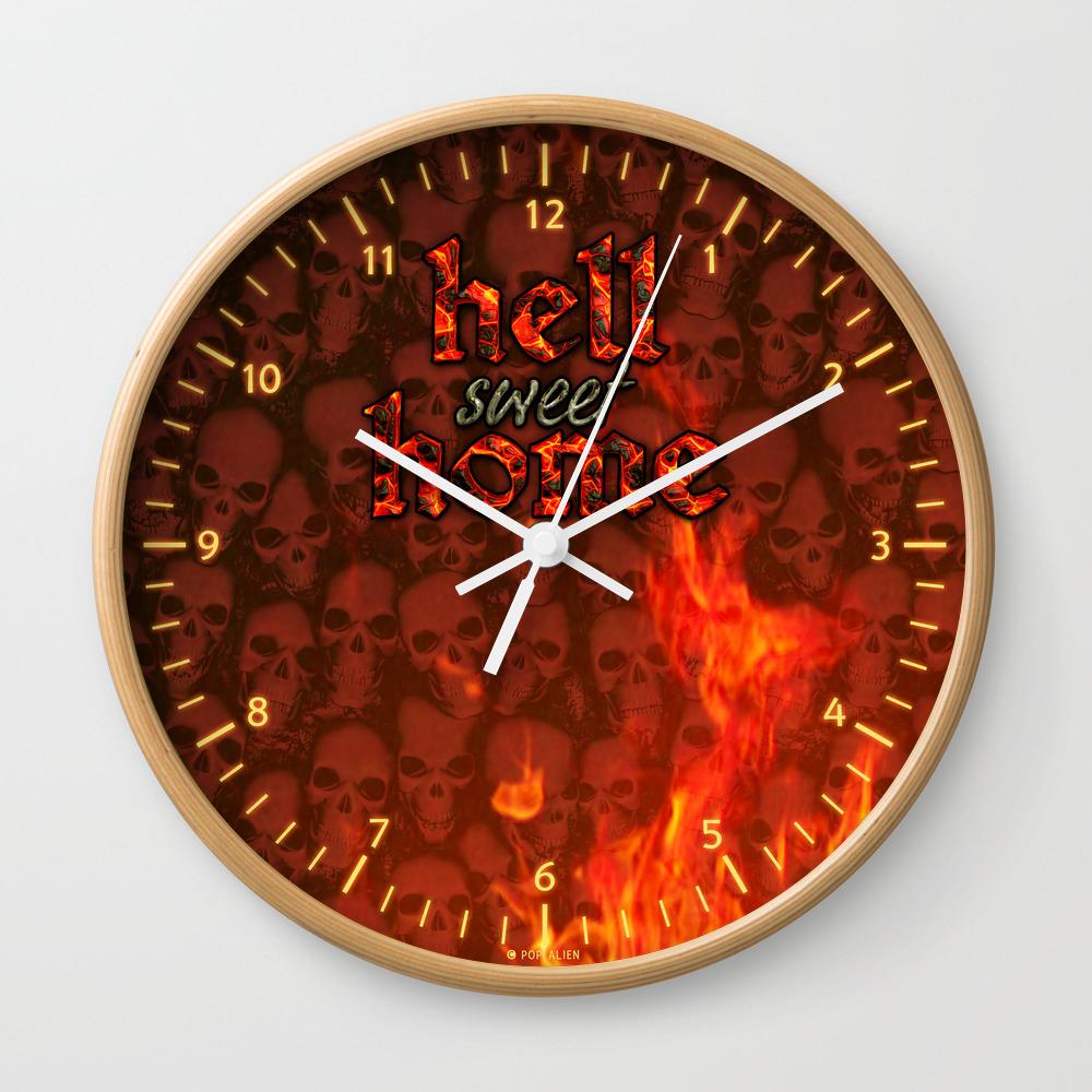 Hell Sweet Home Wall Clock by Popalien CLK8068142