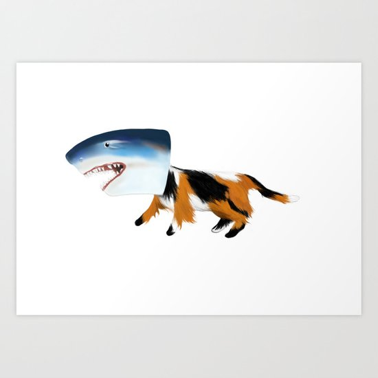 Kit-Kat Shark Attack Art Print