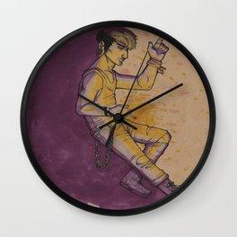 Purple and Yellow Wall Clock