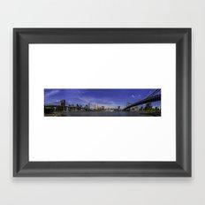 2 Bridges Framed Art Print