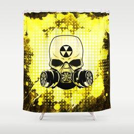 Guerrilla Nuclear Warrior Shower Curtain