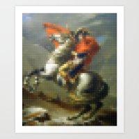 Lego: Napoleon Crossing the Saint-Bernard Art Print