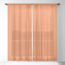 Boca Solid Shades - Apricot Sheer Curtain