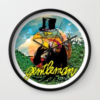 gentleman Wall Clocks featuring Gentleman by dogooder