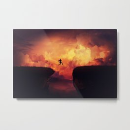 ump over a chasm Metal Print