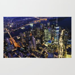 New York City, Manhattan, USA night cityscape Rug