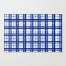 Blue Plaid Canvas Print