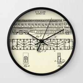 Railway Car-1894 Wall Clock
