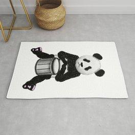 Panda Drummer Rug