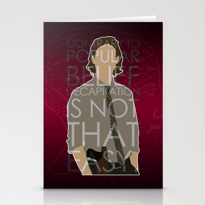 Criminal Minds - Reid Stationery Cards by britishindie