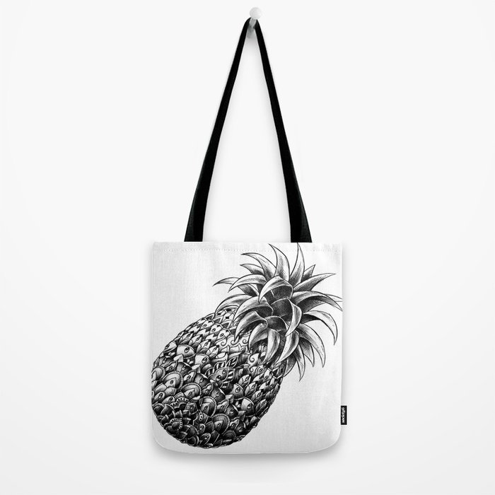 Ornate Pineapple Tote Bag