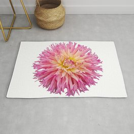 Pink Dahlia on a transparent background Rug