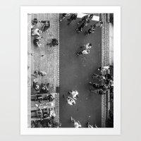 it crowd Art Prints featuring Crowd by Mauricio Santana