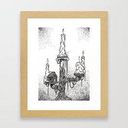 Candelabra Treehouse Framed Art Print